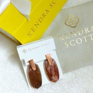 kendra scott aragon rose gold drop earrings